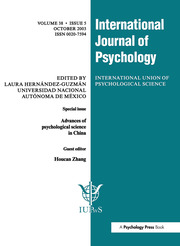 Advances of Psychological Science in China: A Special Issue of the International Journal of Psychology