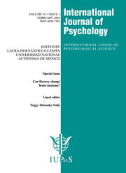Can Literacy Change Brain Anatomy?: A Special Issue of the International Journal of Psychology