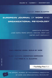 Call Centre Work: Smile by Wire: A Special Issue of the European Journal of Work and Organizational Psychology