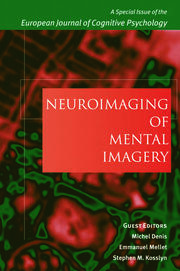 Neuroimaging of Mental Imagery: A Special Issue of the European Journal of Cognitive Psychology
