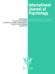 Environmental Perception and Cognitive Maps: A Special Issue of the International Journal of Psychology