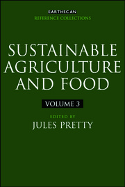 Sustainable Agriculture and Food
