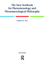 The New Yearbook for Phenomenology and Phenomenological Philosophy: Volume 12