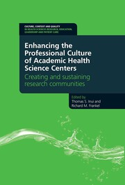 Enhancing the Professional Culture of Academic Health Science Centers: Creating and Sustaining Research Communities