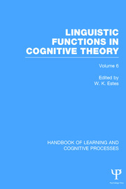 Handbook of Learning and Cognitive Processes