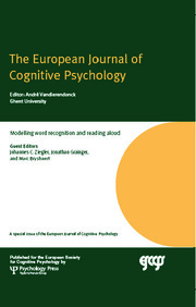 Modelling Word Recognition and Reading Aloud: A Special Issue of the European Journal of Cognitive Psychology