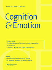 The Psychology of Implicit Emotion Regulation: A Special Issue of Cognition and Emotion