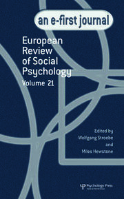 European Review of Social Psychology: Volume 21: A Special Issue of European Review of Social Psychology