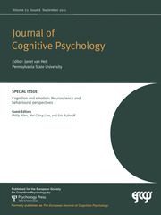 Cognition and Emotion: Neuroscience and Behavioural Perspectives
