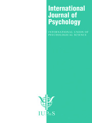 XXX International Congress of Psychology: Abstracts