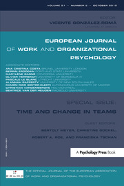 Time and Change in Teams