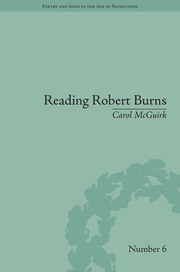 Reading Robert Burns: Texts, Contexts, Transformations