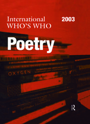 The International Who's Who in Poetry 2003