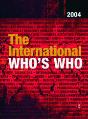 The International Who's Who 2004: Print and online versions