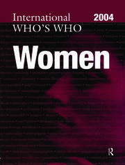The International Who's Who of Women 2004