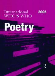 International Who's Who in Poetry 2005