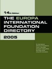 The Europa International Foundation Directory 2005