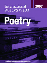 International Who's Who in Poetry 2007