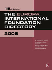 The Europa International Foundation Directory 2006