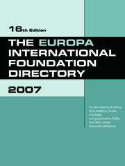 The Europa International Foundation Directory 2007