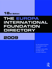 The Europa International Foundation Directory 2009