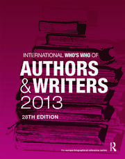 International Who's Who of Authors and Writers 2013