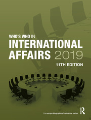 Who's Who in International Affairs 2019