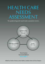 Health Care Needs Assessment, First Series, Volume 2, Second Edition