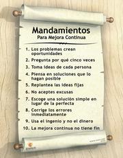 Continuous Improvement Poster (Spanish)