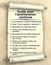 Continuous Improvement Poster (French)