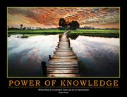 Power of Knowledge Poster
