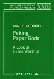 Peking Paper Gods: A Look at Home Worship