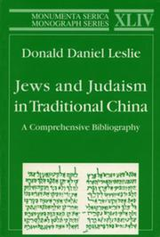 Jews and Judaism in Traditional China: A Comprehensive Bibliography