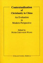 Contextualization of Christianity in China: An Evaluation in Modern Perspective