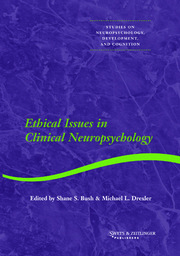 Ethical Issues in Clinical Neuropsychology