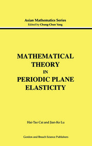 Mathematical Theory in Periodic Plane Elasticity