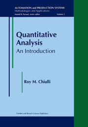 Quantitative Analysis: An Introduction