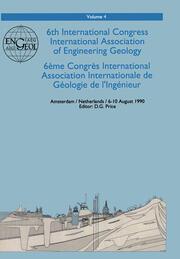 6th international congress International Association of Engineering Geology, volume 4: Proceedings / Comptes-rendus, Amsterdam, Netherlands, 6-10 August 1990, 6 volumes