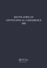 South African geotechnical conference, 1980: Supplement to the Proceedings of the 7th Regional Conference for Africa on Soil Mechanics & Foundation Engineering, held in Accra in June 1980