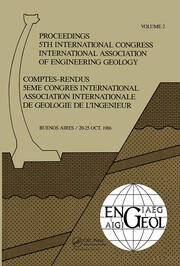 5th Int Congress Int Assoc of Engineering Geology Argen