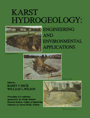 Karst Hydrogeology: Engineering and Environmental Applications: Proceedings of the 2nd multidisciplinary conference on sinkholes & environmental impacts of karst, Orlando, 9-11 February 1987