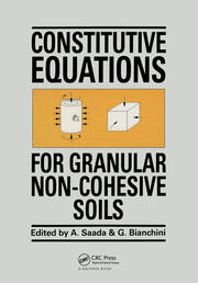 Constitutive Equations for Granular Non-Cohesive Soils