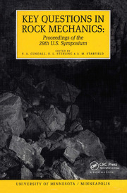Key Questions in Rock Mechanics: Proceedings of the 29th US Symposium on Rock Mechanics