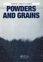 Powder and Grains: Proceedings of an international congress on micromechanics of granular media, Clermont-Ferrand, 4-8 September 1989